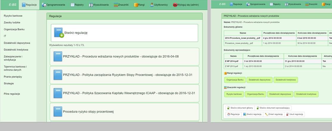 System zarządzania procedurami, oprogramowaniem użytkownika końcowego i regulacjami